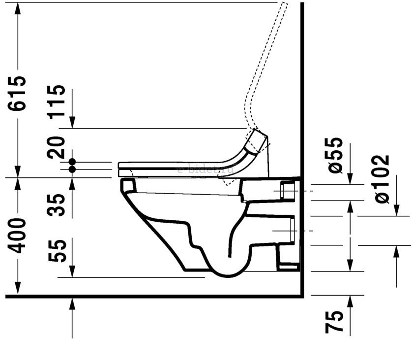 Размерная сетка (вид сбоку)