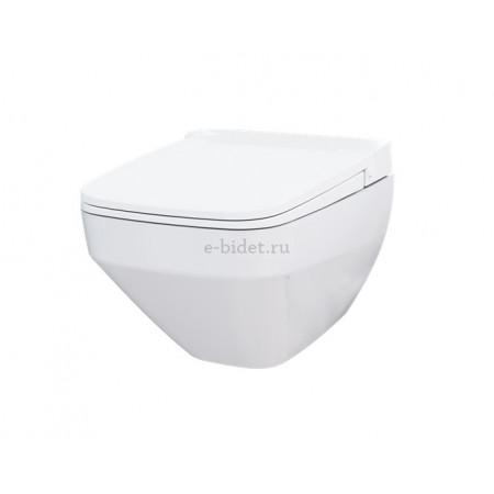 крышка-биде AmPm TouchReel CCC50A1700SC с безободковым унитазом AmPm FlashClean C50A1700SC